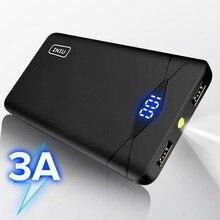 Iniu 3a powerbank para iphone xiaomi mi, carregador portátil duplo usb, bateria externa de celular, led, 10000mah, para iphone para samsung