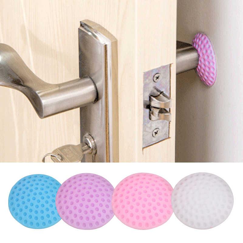 1 pçs parede espessamento mute porta pára-choques adesivo de parede golfe estilo borracha fender lidar com fechadura da porta proteção almofada casa