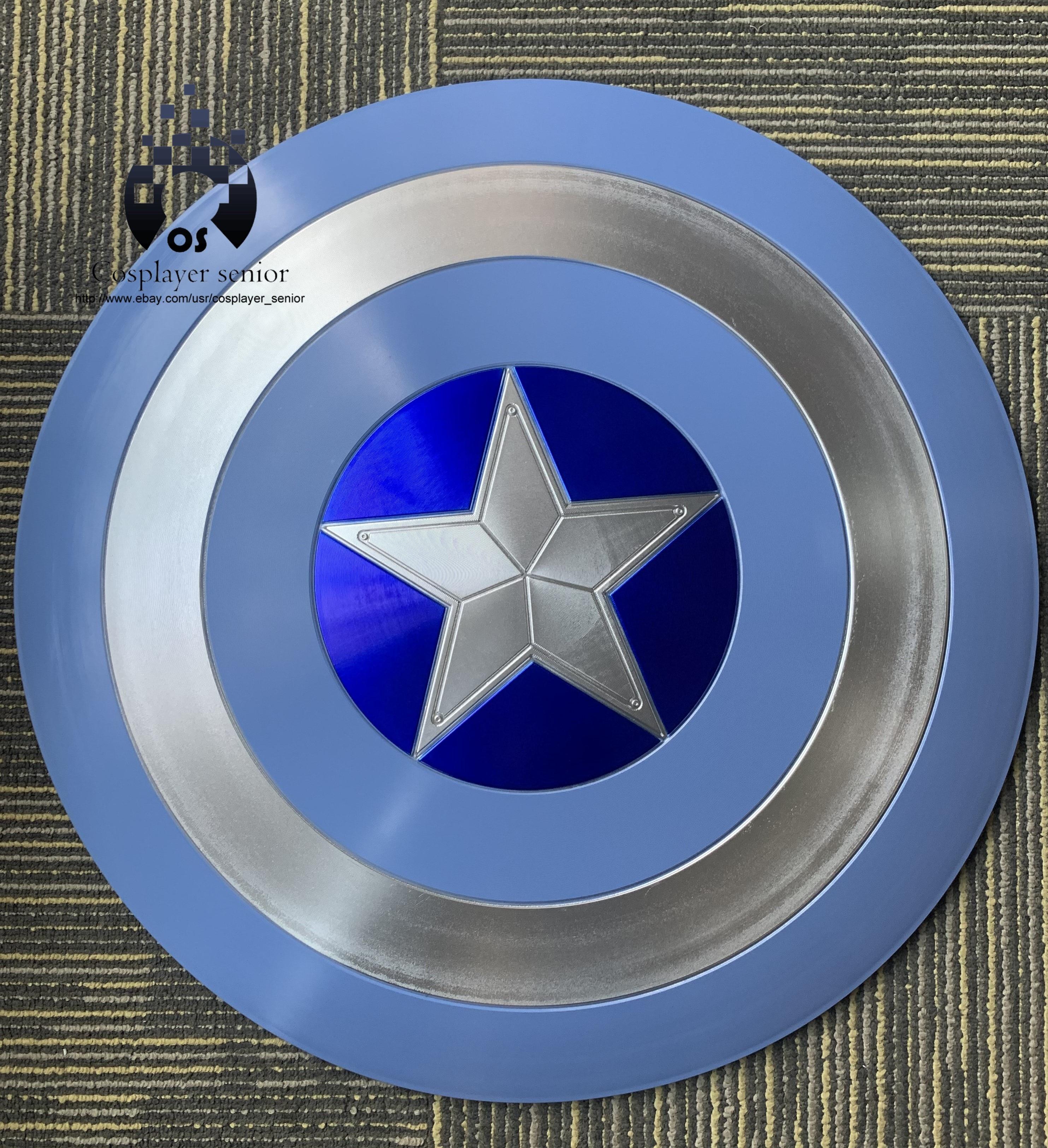 "60CM//23.5/"" Captain America Shield STEALTH 1:1  Full Aluminum Metal FREE STAND"