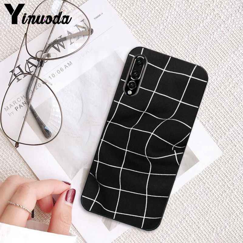 Yinuoda 芸術黒と白の格子 DIY 電話ケース huawei 社 P10 P20 LIte Mate20 Mate10 Lite P20Pro Honor10 9 lite Honor8X