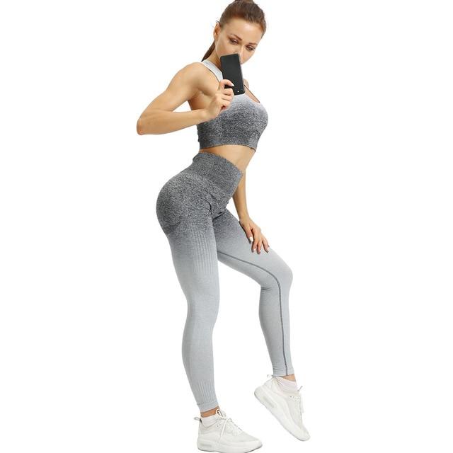 2PCS Yoga Set Women...