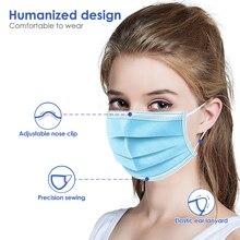 50pcs 3 שכבות פחמן 50pcs 마스크 חד פעמית earloop מסכת פנים פה קוריאני מסכת ילדים ילד