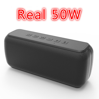 50W Portable Bluetooth Speaker TWS 5.0 IPX7 Waterproof Type-C Heavy Bass Outdoor Louderspeaker Music Subwoofer caixa de som