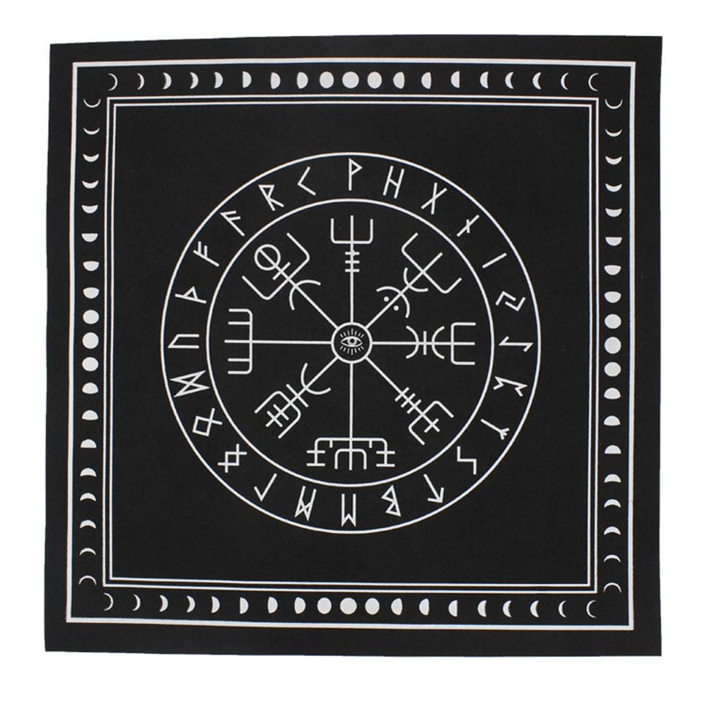 50*50cm Non-woven Tarot Tablecloth Rune Divination Altar Patch Tarot Table Cover Board Game Textiles Black/Purple