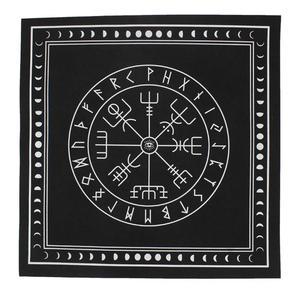 50*50cm Non-woven Tarot Tablecloth Rune Divination Altar Patch Tarot Table Cover Board Game Textiles Black/Purple