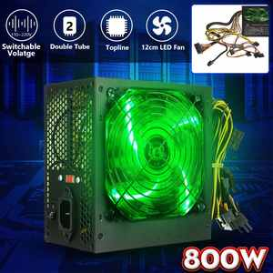 Silent-Fan Computer Power-Supply Temperature-Control-Intel ATX PC Desktop 800W LED 12cm