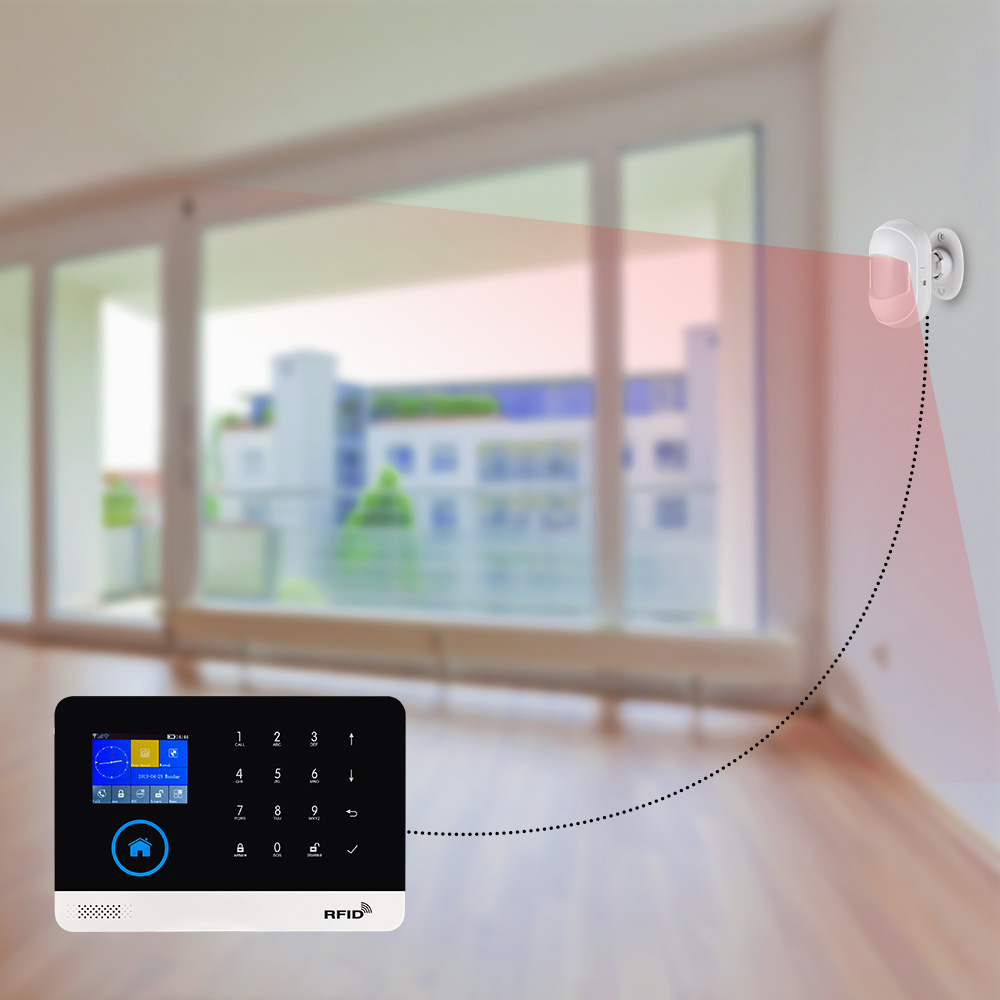 Fuers Drahtlose Mini PIR Sensor Motion Detektor 433Mhz HW10 Alarm Sensor Für Wifi GSM Alarm System WG11 PG103 Hause sicherheit Alarm