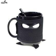 Creative Ninja Mug,Black Mask Ceramic Cup With Spoon Sword Coffee Milk Tea Mugs  Drop shipping