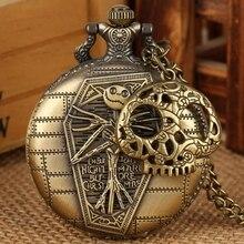 Necklace Clock Tim Burton Watch-Jack Skull-Accessory Pocket Pendant-Hour Nightmare Before