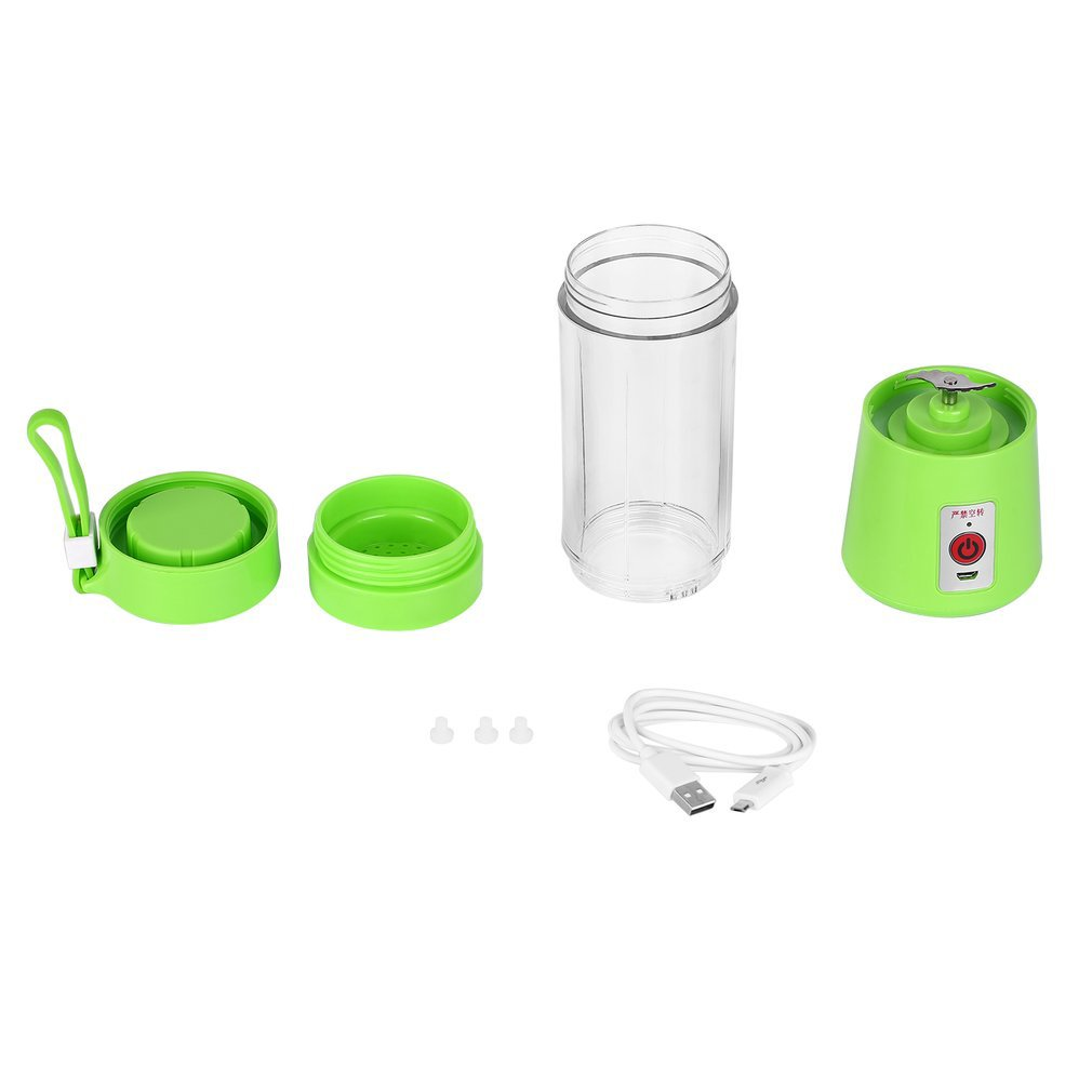 USB Juicer Cup Fruit Mixing Machine Portable Personal Size Eletric Rechargeable Mixer Blender  Water Bottle 380ml with USB|Blenders| |  - title=