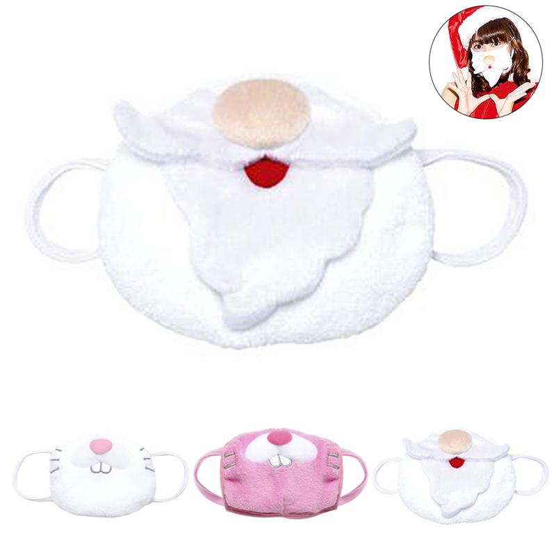 Warm Breathable Christmas Mouth Mask Soft Warm Rabbit Santa Pattern Mouth Cover Facial Mouth Mask Personality Creative Design
