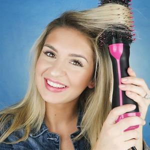 Image 4 - Lisapro Dropshipping 2 IN 1 One Step Hair Dryer Hot Air Brush Hair Straightener Comb Curling  brush hair styling tools