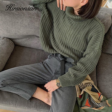 Cashmere Sweater Tops Pullovers Turtle Warm Female Elegant Thick Korean Solid Hirsionsan