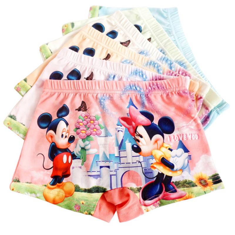3pcs/Lot Children Girls Cartoon Mickey Cute Underwear Kids Cozy Cotton Underpants Infant Baby Girl Panties Boxer Briefs Panty