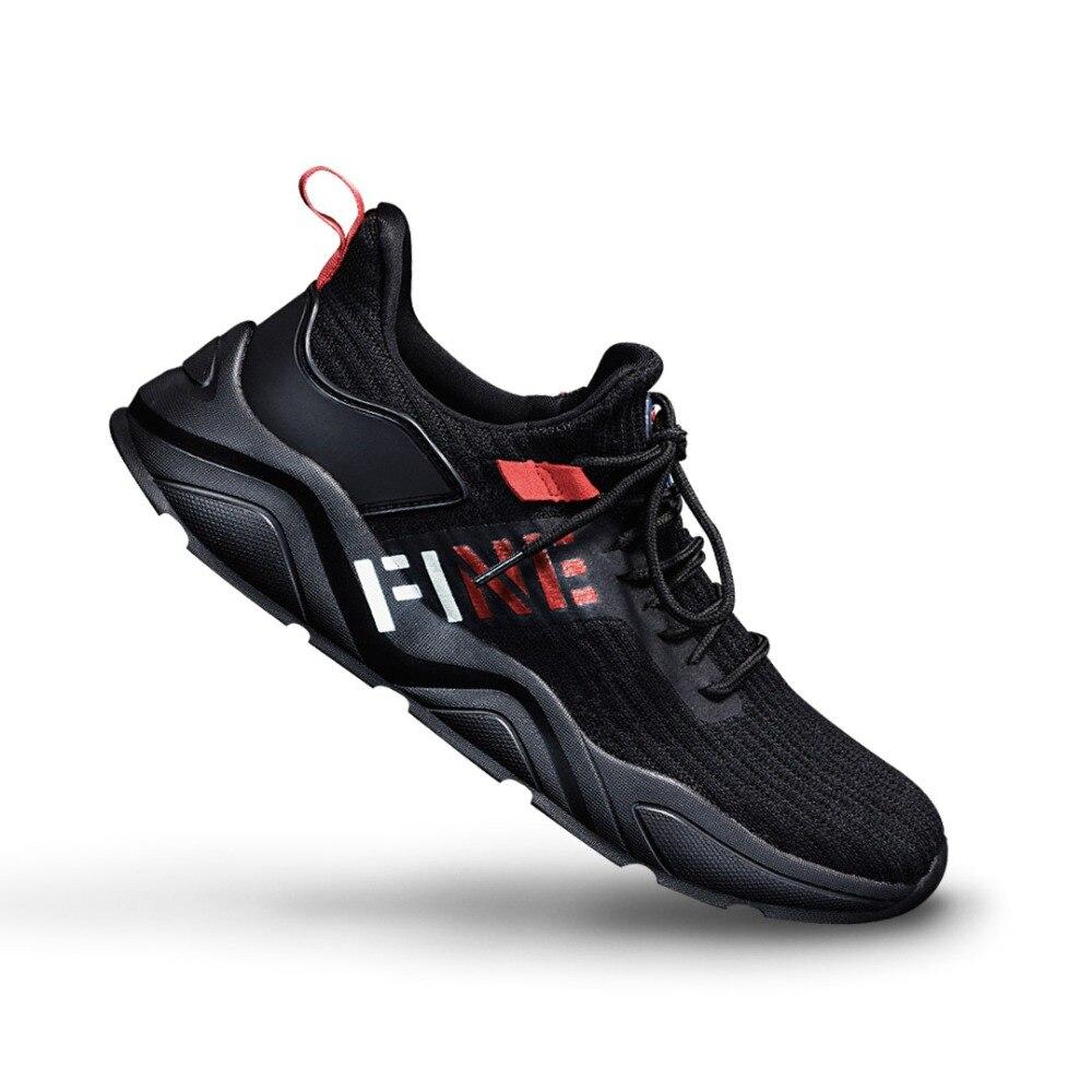 Sapatos masculinos de verão sapatos desportivos casal voar tecido de malha respirável running shoes - 4