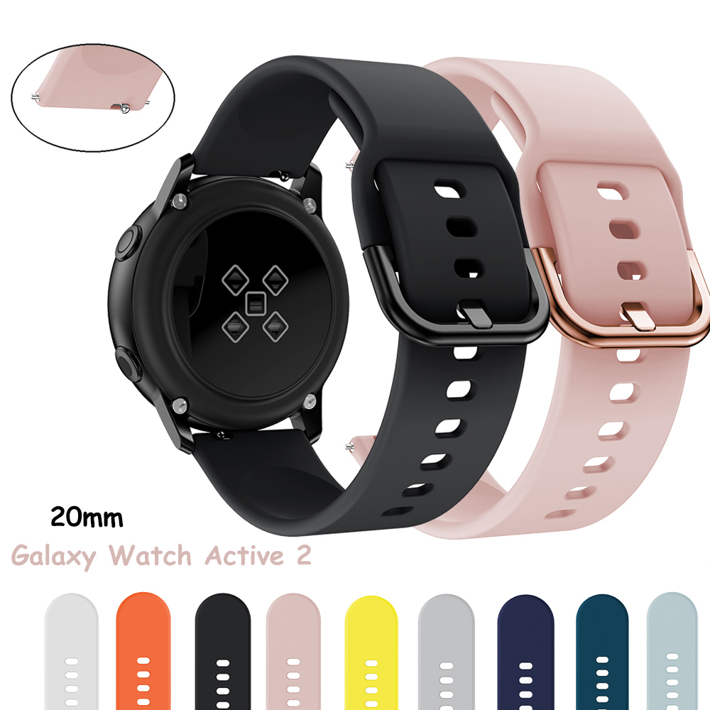 Galaxy Watch Active 2/Active Band FOR Samsung Galaxy Watch 44/42/40mm 20mm Watch Strap Huawei Watch 2 Pro Gear Sport Bracelet