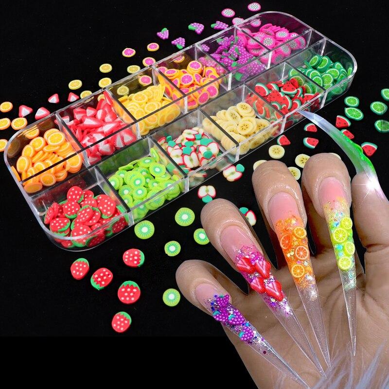 Искусство для ногтей 3D фруктовый DIY Дизайн Крошечные Ломтики украшения акриловая красота Полимерная глина наклейки для ногтей аксессуары|Стразы и украшения|   | АлиЭкспресс - Я б купила