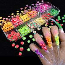 Nail Art 3D Fruit Diy Ontwerp Tiny Slices Decoratie Acryl Beauty Polymer Clay Nail Sticker Accessoire
