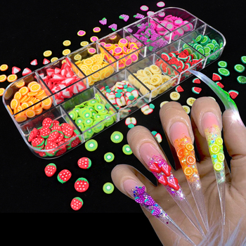 Nail Art 3D Fruit DIY Design Tiny Slices Decoration Acrylic Beauty Polymer Clay Nail Sticker Accessory 3d multi designs 1000 pcs 1 bag fruit slices nail art diy designs nail art slices for slicing nail art decoration pb10 1 32