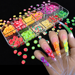 Nail Art 3D Fruit DIY Design Tiny Slices Decoration Acrylic Beauty Polymer Clay Nail Sticker Accessory