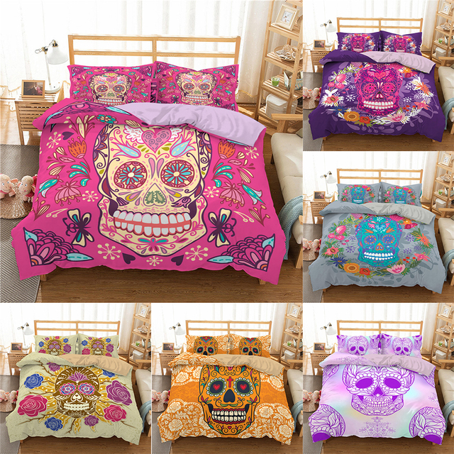 3D SUGAR SKULL BEDDING SETS (7 VARIAN)