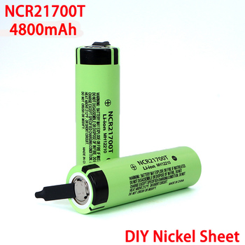 3.7V NCR21700T 4800mAh li-lon battery 21700 15A 5C Rate Discharge ternary Electric car lithium batteries DIY Nickel sheets image