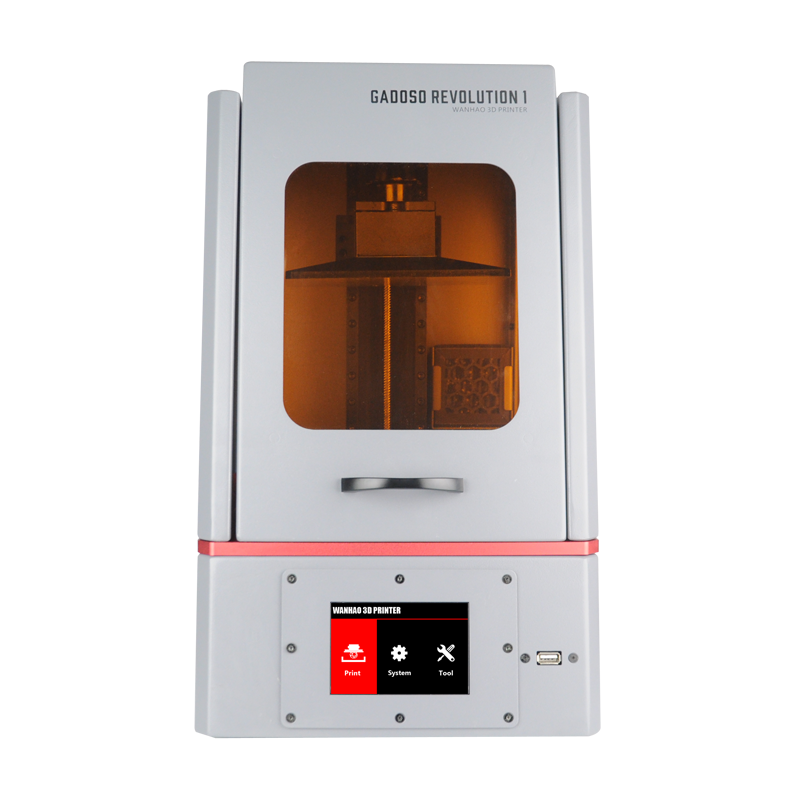 2019 New WANHAO Original GR1 GADOSO REVOLUTION 1 High Level Dental DLP LCD Precision Light Cure 3D Printer with 250ml Resin image