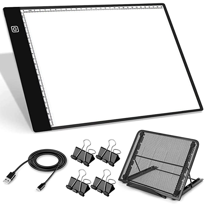 A4 LED Tracking Light Box, USB Powered Diamond Painting Light Pad, Dimmable LED Light Board, Used for Tracking, Drawing