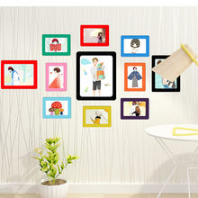 Colorful Magnetic Picture Frames 11.8*16cm Photo Magnets Photoframe Refrigerato DIY Picture Photo Frame In Set For Home Room(China)