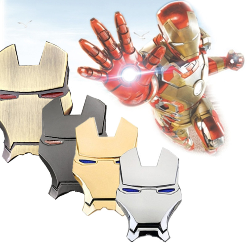 Instagram 3D Chrome Metal Iron Man Car Stickers Decoration The Avengers auto sticker Styling Decal Exterior car Accessories
