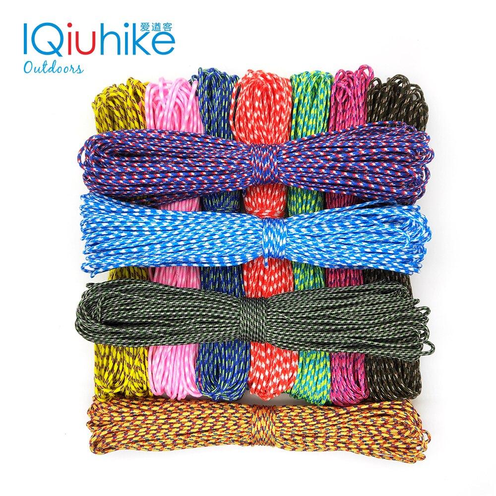 100 Colors Paracord 2mm 25FT 50FT 100FT Rope 1 Strand Paracorde Outdoor Survival Equipment Clothesline DIY Bracelet Wholesale
