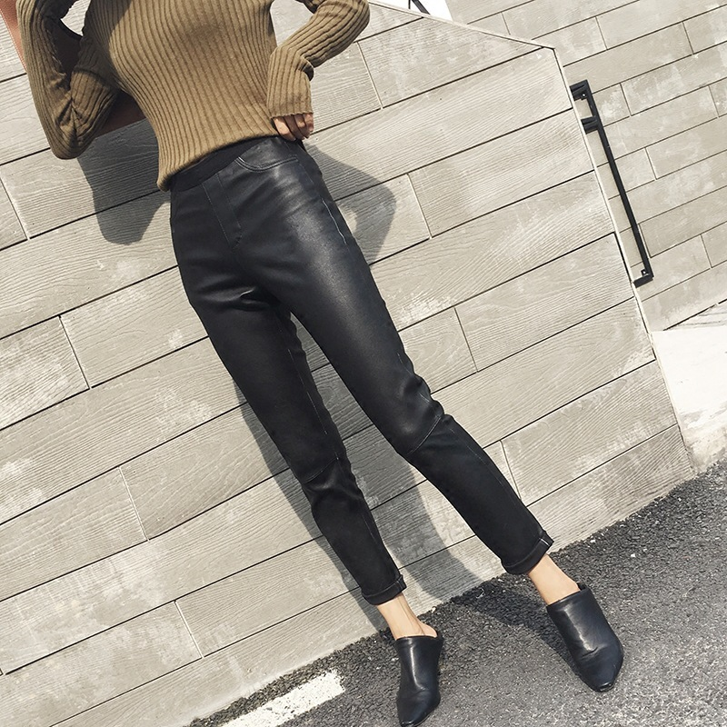New 100% Sheepskin Leather Trousers In Autumn And Winter