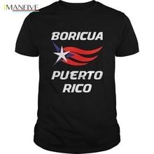 Men t shirt Short sleeve Boricua Puerto Rico Flag T-shirt cool Women t-shirt tee tops