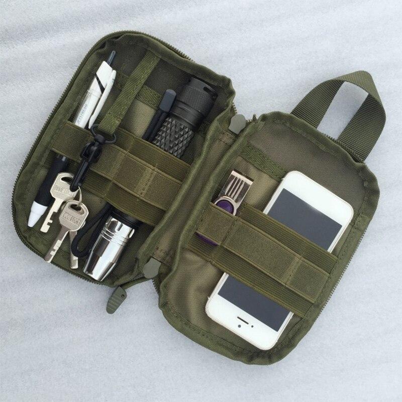 1000D naylon taktik askeri EDC Molle kılıfı küçük bel paketi av çanta cep için Iphone 6 7 Samsung için açık spor çanta