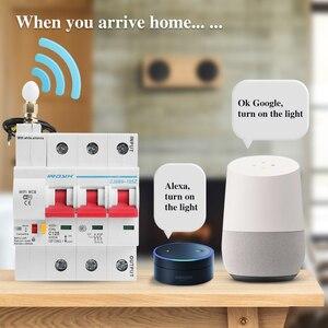 Image 3 - 3P WiFi akıllı devre kesici otomatik anahtarı aşırı yük kısa devre koruması Alexa ve Google ev için akıllı ev