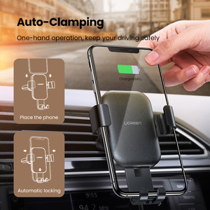Image 2 - UGREEN Qi Car Wireless Charger for Samsung S9 10 Xiaomi Car Mount Hoder Car Charger Fast Wireless Charging For iPhone 11 XS X 8