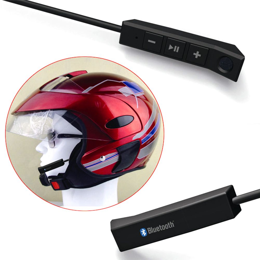 Stero Sound Speakers USB Charging Hands Free For Motorcycle Helmet Headphone Long Standby Bluetooth Riding With Microphone