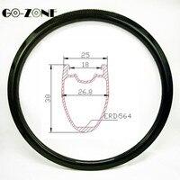 road disc wheel 38x25mm tubeless bike carbon rim matte/glossy 18/20/21/24 holes road carbon wheel 700c