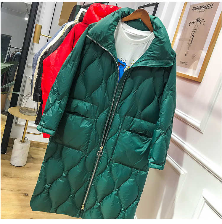 Новинка 2019, зимний женский пуховик, длинная куртка-пуховик, теплая уличная женская пуховая парка, женская толстая верхняя одежда большого размера