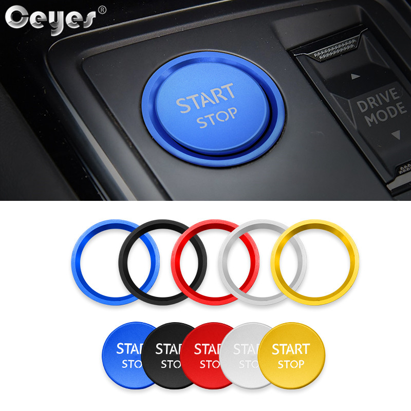 Ceyes 1pc Car Engine Ignition Start Stop Push Button <font><b>Cover</b></font> Accessories Styling Case For <font><b>Peugeot</b></font> 5008 3008 408 508l 2008 <font><b>308</b></font> 4008 image