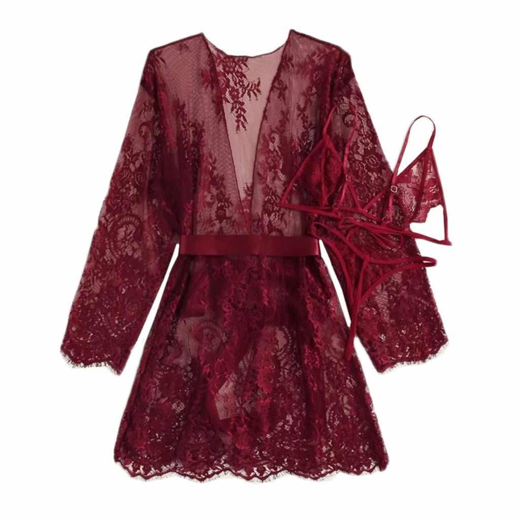 Satin Bộ Đồ Ngủ Lụa Cardigan Váy Ngủ Áo Choàng Tắm Nữ Áo Quần Lót Đồ Ngủ Nữ Nữ Bộ Đồ Ngủ Gợi Cảm Xiêm Váy Bộ
