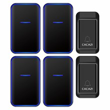 CACAZI Waterproof Self-powered Wireless Doorbell with No Battery Required Home D