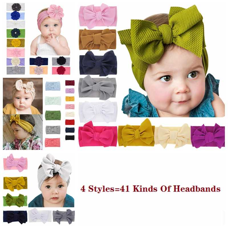2019 New Newborn Toddler Baby Girls Bowknot Head Wrap Flowers Turban Big Bow Knot Headband Headwear Hair Accessories Baby Gifts