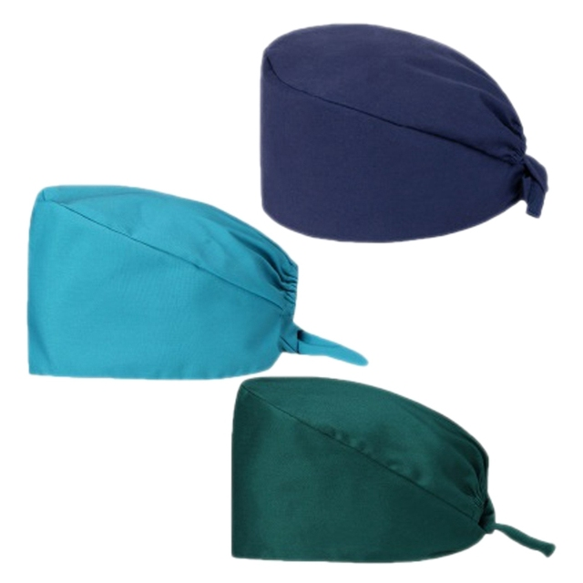 3Pc Frosted Cap Nurse Cap Work Bag Head Dust-Proof Sweat-Proof Belt Isolation Protective Cap