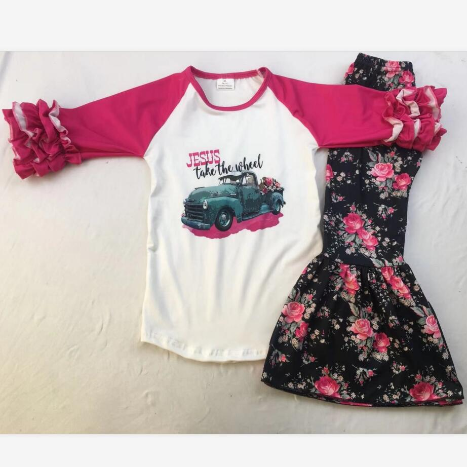 Boutique Children's Clothing Summer Girls Set Lovely Kids Casual Clothes Top Quality