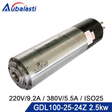 Automatic Tool Change Spindle ATC Water Cooled Spindle GDL100 25 24Z 2.5kw Voltage 220V 380V Current 9.2A 5.5A