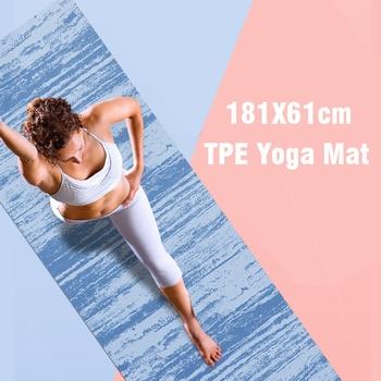 Коврик для йоги 183х61 см из термополиуретана, 5 мм, коврики для занятий спортом, фитнесом, коррекции фигуры, коврик для йоги, нескользящий коврик для пилатеса