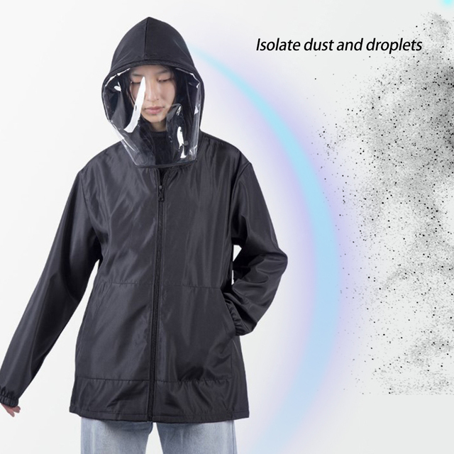 Anti Flu Washable Protective Suit Isolated Clothing Jacket Hat With Mask Waterproof Removable Epidemic Prev Beekeeping Clothes 3