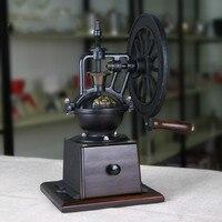 A1 Retro hand grinder maschine hause kaffee hand grinder kaffeemühle manuelle mühle gusseisen rad super mühe lo94244