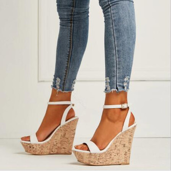 Minan Sesuper wedges 15CM high and 4.5cm high platform women's wedges are black, brown, white, red and large size customized for